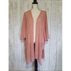 Audrey 3+1 Loose Knit Cardigan Sweater | Medium